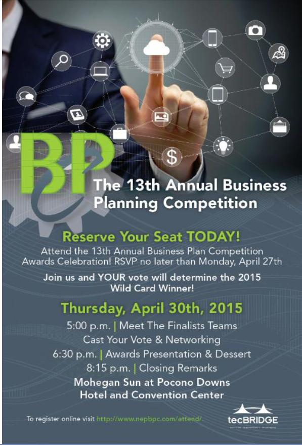 Business Plan Competition Awards Dinner @ Mohegan Sun at Pocono Downs | Wilkes-Barre | Pennsylvania | United States